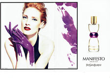 Publicité Advertising 127  2012  parfum Manifesto Yves Saint Laurent (2p) J. Cha
