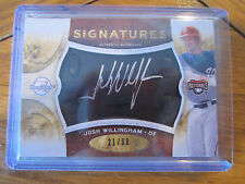 2009 SWEET SPOT JOSH WILLINGHAM BLACK LEATHER, SILVER INK AUTOGRAPH /30