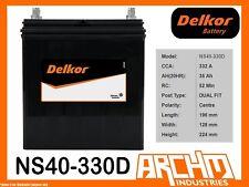 DELKOR BATTERY - CALCIUM NS40-330D - CCA 332 A 35 AH DF CENT - MAINTENANCE FREE