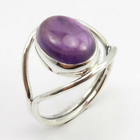925 Sterling Silver Ladies Jewelry Natural AMETHYST Ring # 10.25