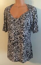 ?? NWT Women's Size Large East 5th Blouse SS Stretch Shirt Retail $30.00