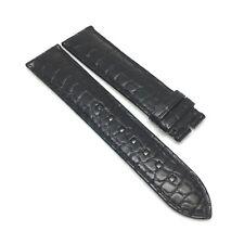Montblanc Black Alligator Leather Watch Band 20 x 18 MM Strap Stitching Black