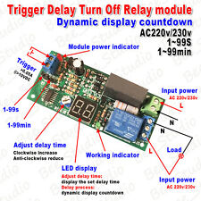 AC 220V 230V LED Display Countdown Timing Timer Delay Turn OFF Time Relay Module