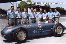 9x6 photographie Bill Vukovich Hopkins Kurtis Kraft, Indianapolis 500 1955