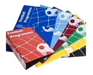 Premium PVC Football Programme Binder to hold 10 Premier Champion League Program