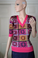 Issey Miyake Pleats Please Multi-Color Short Sleeve Top Shirt JP3 US L 8 or 10