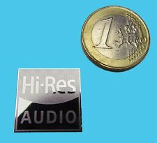 HI-RES AUDIO  METALISSED CHROME EFFECT STICKER LOGO AUFKLEBER 20x20mm [722]