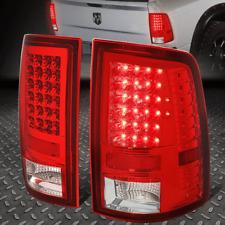 FOR 2009-2017 DODGE RAM PICKUP CHROME HOUSING RED LENS LED TAIL LIGHT BRAKE LAMP