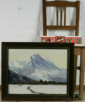 Heinrich Baakes Oil Painting Antique Alps Glacier Snow Mountains Gipfel