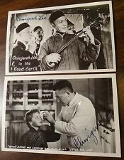 CHINGWAH LEE 2 Autographed Photo Postcards ACTOR