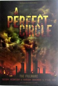 Perfect Circle * Fillmore / SF * Nov 16-17-18 2010 - Mint F1072 - F. Wiedemann