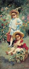 Makovsky Ritratto di bambini d'artista riproduzione quadro olio tela dipinto