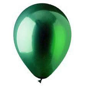 "12 CRYSTAL GREEN LATEX BALLOONS HELIUM GRADE 11"""