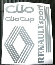 Kit 4 adesivi RENAULT decal sticker CLIO CUP SPORT TEAM RALLY stickers set