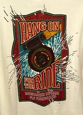 Round Rocks Fly Fishing Club Die Hard Hang On For Ride Shirt Men XL Made in USA