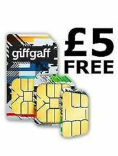 NEW GiffGaff Giff Gaff Sim Card For Gps Tracker , Spy Device, House Alarm ,3G 4G