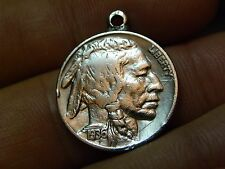 1936 Buffalo Indian Head Nickel coin pendant nice gift motorcycle biker