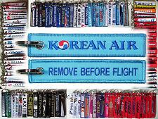 Keyring KOREAN AIR Airline Korea Remove Before Flight keychain for Pilot Crew