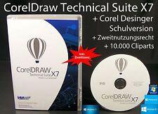 CorelDraw Technical suite x7 Designer BOX + CD VERSIONE COMPLETA Education OVP NUOVO