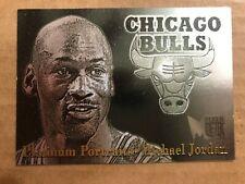 1996-97 Metal Platinum Portraits Michael Jordan Basketball Card #5 Near Mint