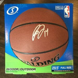 Signed BRANDON INGRAM Spalding Basketball! Los Angeles Lakers! Auto COA!
