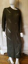Green long Shredded Sweater Dress Size Medium / Large. Hera collection.
