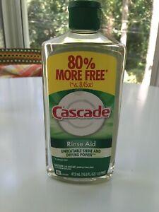 Cascade Rinse Aid Agent 16 Fl oz 1 Pint New Unopened NOS Dishwasher