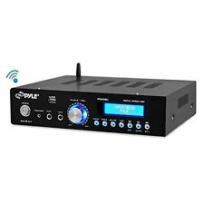Pyle 200W Bluetooth Home Stereo Amplifier AM/FM Receiver USB MIC Inputs & Remote
