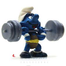 PUFFO PUFFI SMURF SMURFS SCHTROUMPF 4.0507 40507 Weightlifter Bodybuilder 4A