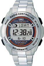 BRAND NEW CITIZEN Q&Q MHS7-200 Men's Watch Solar Digital Chronograph Silver
