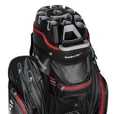 Founders Club Waterproof Premium Cart Bag 14 Way Organizer Divider Top Black