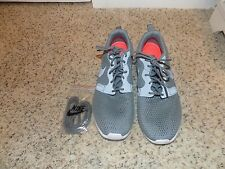 Nike Roshe One Hyperfuse Cool Gray and White Men's Sneakers in Size 7-EUC