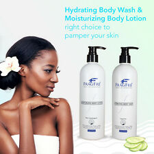 FRAGFRE Body Wash and Lotion Set - Fragrance Free Hypoallergenic Sulfate Free