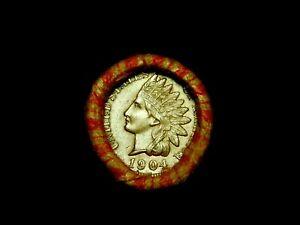 Crimped Shotgun Roll w/ UNC 1904 Indian Head Cent & 1916 Mercury Dime