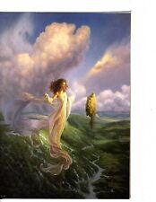 Unframed Poster Art Fantasy Ethereal Woman floating over Valley (m542)