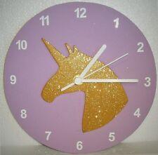 Child's Glittery Unicorn Wall Clock