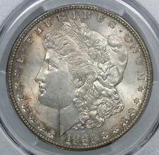 Toned Pcgs Ms65 1882-S Morgan Silver Dollar $1 (Bc53)