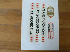 STICKERS,DECALS ON PAPER CONCORDE FLYING CYCLING FIETSEN ? BLACK