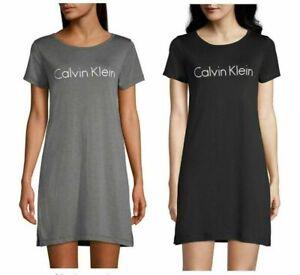 New Women's Calvin Klein 2-Pack Nightshirts 1) Grey & 1) Black Size Medium
