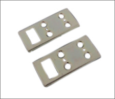 A PAIR OF LOCKMASTER NON ADJUSTABLE SINGLE SHOOTBOLT KEEP/PLATE FOR UPVC DOORS