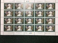 Rw73 Ross Goose . Mint Never Hinged. Superb Sheet Of 20. Face Value Is $300.00