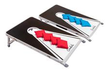 Original Cornhole Board Set - Black & White - 2 Boards, 8 Bean Bags & Regelwerk