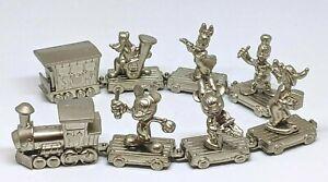 Disney Rhythm Train Coca Cola Metal Figure Toy set of 8 Rare Japan Limited