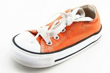 Converse all Star Toddler Sz 6 Medium Orange Low Top Fabric Unisex