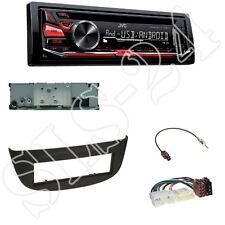 JVC kd-r471 CD/USB Radio + RENAULT vento MASCHERINA NERO + ADATTATORE ISO Set