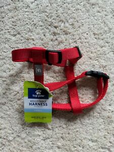 Top Paw Step-In Adjustable Dog Harness - Red small - new no tags