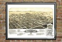Old Map of Laconia, NH from 1883 - Vintage New Hampshire Art, Historic Decor