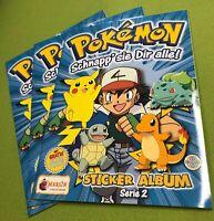 3 Stück Pokémon Sticker Album Serie 2 - Merlin Collections Nintendo leer Poster