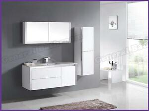 1200 Stone top Finger Pull  Wall Hung Vanity