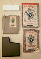 Wizardry Knight Of Diamonds - Nintendo NES - COMPLETE IN BOX CIB GREAT BOX